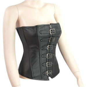 Six Buckle Leather Corset