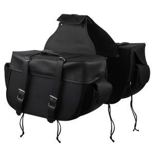 Big Motorcycle Zip Off and Throw Over Saddlebags With Outside Pockets