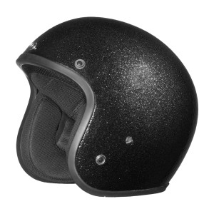 Daytona Cruiser Metal Flake Helmet - Black
