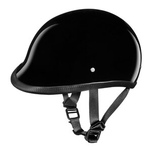 Daytona Polo Half Helmet - Gloss Black