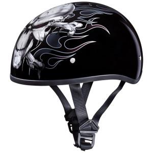 Daytona Skull Cap Cross Bones Half Helmet