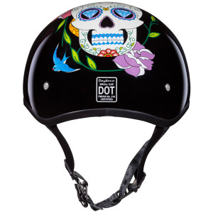 Daytona Skull Cap Diamond Skull Half Helmet