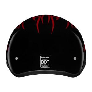 Daytona Skull Cap Flames Half Helmet - Back-View