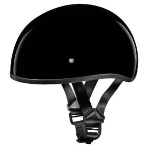 Daytona Skull Cap Half Helmet - Gloss Black