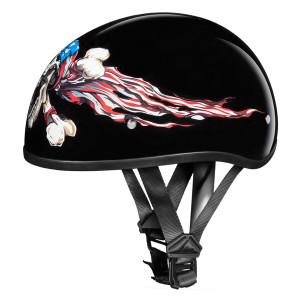 Daytona Skull Cap Patriot Half Helmet
