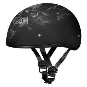 Daytona Skull Cap Pistons Skull Half Helmet