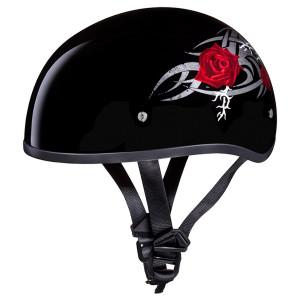 Daytona Skull Cap Rose Half Helmet
