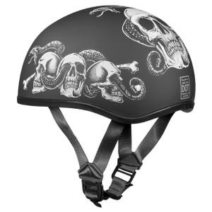 Daytona Skull Cap Snakes Skulls Half Helmet