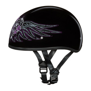 Daytona Women's Skull Cap Barbed Wire Heart Half Helmet