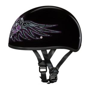 Daytona Women's Skull Cap Barbed Wire Heart Half Helmet