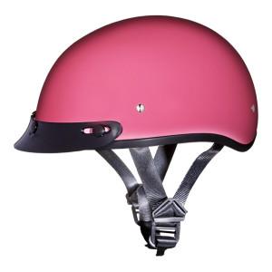 Daytona Women's Skull Cap Half Helmet with Peak Visor