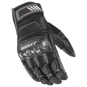 Joe Rocket Highside Mens Leather Motorcycle Gloves - Black/Grey