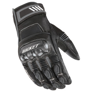 Joe Rocket Highside Mens Leather Motorcycle Gloves - Black/Grey