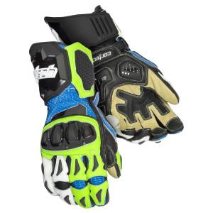 Cortech Adrenaline 3.0 RR Gloves - Blue/Hi-Viz