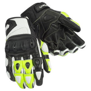 Cortech Impulse ST Mens Leather Motorcycle Gloves - Hi-Viz
