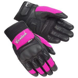 Cortech Women's HDX 3 Leather Motorcycle Gloves - Pink
