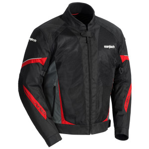 Cortech VRX Air 2.0 Mens Mesh Motorcycle Jacket - Black/Red