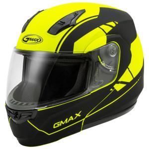 GMax MD-04 Article Helmet - Black/Hi-Viz