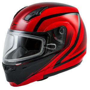 GMax MD-04S Docket Snow Helmet With Dual Lens - Red/Black