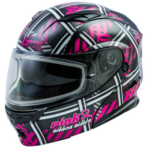 GMax Women's MD-01S Ribbon Riders Snow Helmet With Dual Lens