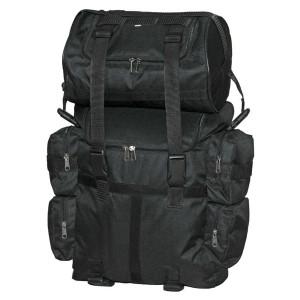 Vance VS322 Black Textile Medium Motorcycle Sissy Bar Bag with Rain Cover
