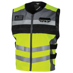 Fly Fast-Pass High Visibility Orange or Yellow Motorcycle Safety Vest