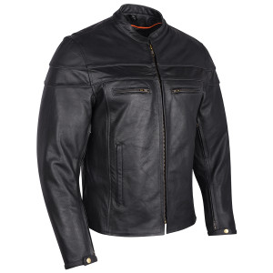 Mens VL531 Leather Motorcycle Jacket