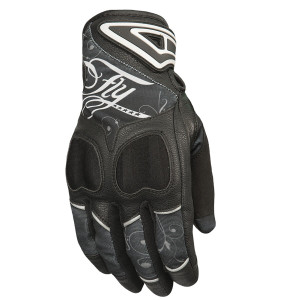 Fly Women's Venus Motorcycle Gloves - Black/Grey