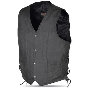 Kids Lined Lace Side Milled Leather Vest