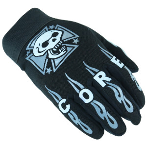 Heavy Duty Suede Palm And Back Skull Design Mechanic Gloves