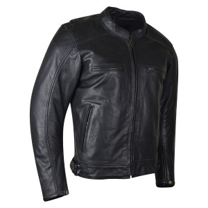 High Mileage HMM538 Mens Dual Conceal Carry Vented Sport Style Cowhide Leather Biker Motorcycle Riding Jacket