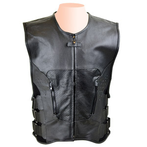 SWAT Team Bulletproof Style Perforated Leather Vest