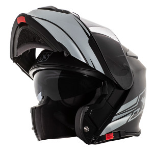 Speed and Strength SS4100 SS Logo Modular Helmet -Black