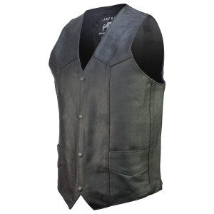47e511756b9 Basic Concealed Carry Biker Leather Vest