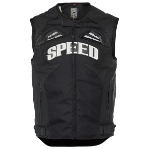 Speed and Strength Insurgent Mens Motorcycle Vest-Black