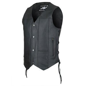 Jafrum MV106 Mens Black Concealed Carry Ten Pocket Leather Vest