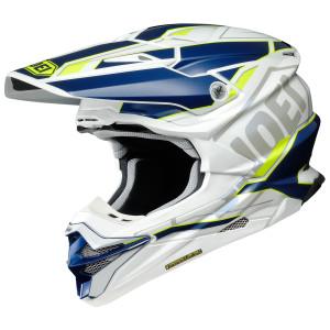 Shoei VFX-EVO Allegiant Helmet - Blue/Hi-Viz