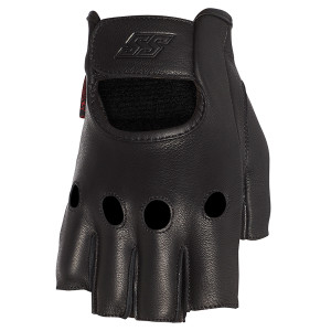Speed and Strength Half Nelson Fingerless Leather Motorcycle Gloves
