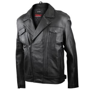 Detour 8001 Mens Black Leather Motorcycle Jacket