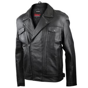 Detour 8001 Mens Black Leather Motorcycle Jacket