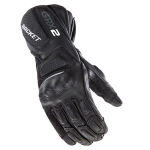 Joe Rocket GPX 2.0 Mens Leather Motorcycle Gloves - Black