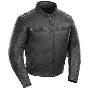 Joe Rocket Sprint TT Mens Leather Motorcycle Jacket - Black