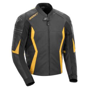 Joe Rocket GPX Mens Leather Motorcycle Jacket - Black/Yellow