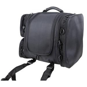 Vance VS340 Black Nylon Motorcycle Luggage Travel Pack Sissy Bar Bag