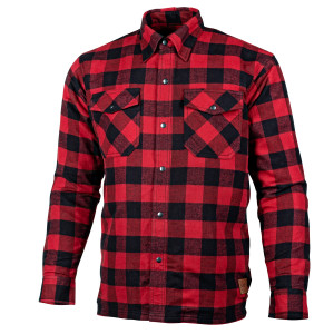 Cortech Bender Mens Armored Motorcycle Riding Shirt-Red