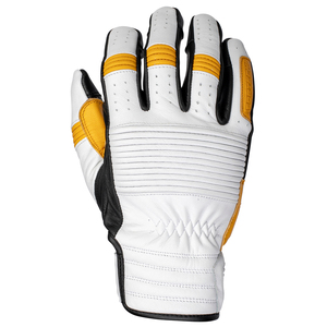 Cortech Assoiciate Mens Leather Motorcycle Gloves - White