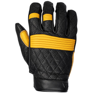 Cortech Scrapper Mens Leather Motorcycle Gloves-Black/Gold
