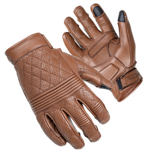 Cortech Women's Scrapper Motorcycle Leather Gloves - Brown