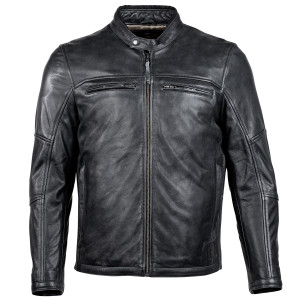 Cortech Idol Mens Motorcycle Leather Jacket - Black