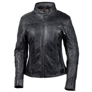 Cortech Women's Lolo Motorcycle Leather Jacket - Black